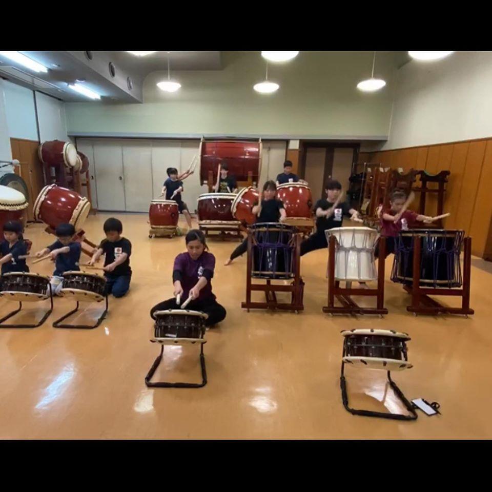 菊陽武蔵剣豪太鼓練習風景
